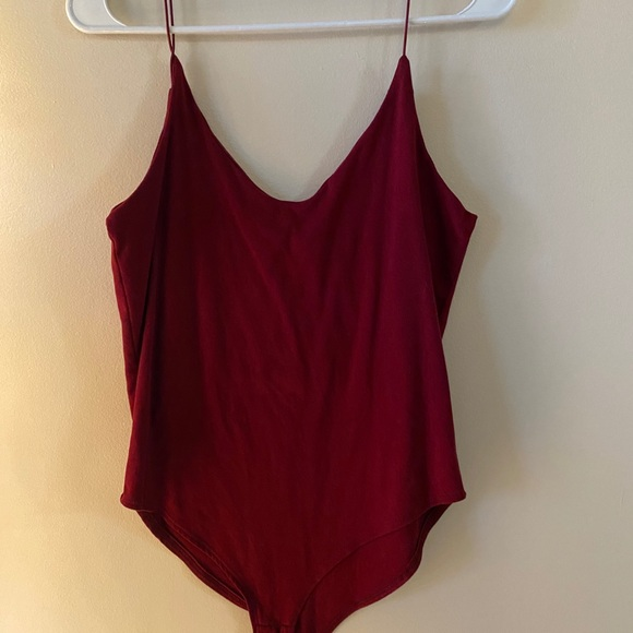 Solid red bodysuit